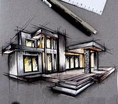 Interesting Find A Career In Architecture Ideas. Admirable Find A Career In Architecture Ideas. Architecture Concept Drawings, Architecture Sketchbook, Architecture Magazines, Art And Architecture, Architect Drawing, Building Design, Instagram, Architectural Sketches, Industrial Bedroom