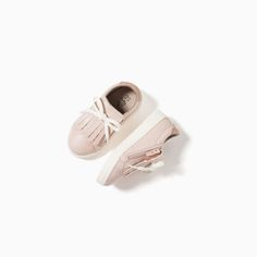 ZIPPED FRINGED SNEAKERS-SHOES AND BAGS-BABY GIRL | 3 months-3 years-KIDS | ZARA United States