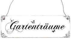 Türschild Holzschild GARTENTRÄUME Garten Deko  von Interluxe via dawanda.com