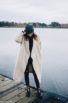 POLIENNE by Paulien Riemis | wearing a MONKI sheep coat, WEEKDAY scarf, BERSHKA boots