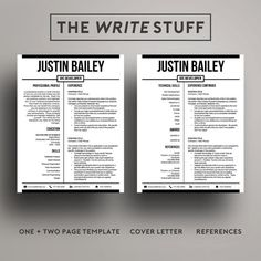 professional resume template for word 1 2 page resume