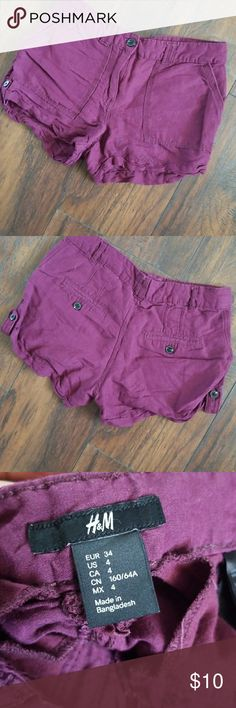 H&M eggplant purple shorts Comfortable and flowy Eggplant purple  Size 4 H&M Shorts Cargos