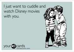 This is how I knew on our first date that I was goona marry Derek.  We went to his apt to watch a movie after dinner  he had a whole cabinet of Disney movies!
