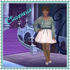 Disney Movie, Disney's Cinderella 1950, Cinderella  Disneybound, Cinderella 1950 Disneybound, Disney Princess, Disney Princess Disneybound, White Skirt Disneybound, Blue Shirt Disneybound, Disneybound Blue, Disneybound White