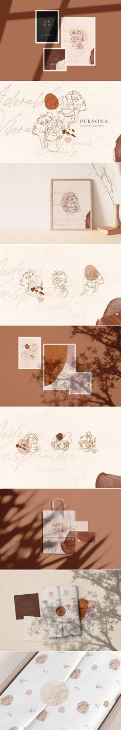 Persona branding elements by Elen Stolz Self Branding, Branding Agency, Branding Ideas, Identity Branding, Visual Identity, Brand Identity Design, Logo Design, Brand Design, Design Design