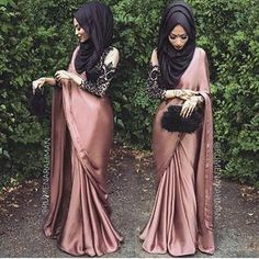 This Elegant muslim outift ideas for eid mubarak 2 image is part from Elegant Muslim Outfits Ideas for Eid Mubarak gallery and article, click read it bellow to see high resolutions quality image and another awesome image ideas. Saree With Hijab, Hijab Dress, Saree Dress, Hijab Wear, Eid Outfits, Indian Outfits, Fashion Outfits, Islamic Fashion, Muslim Fashion