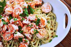Simple Shrimp Scampi With Liguine | WeeklyBite
