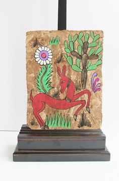 Mexican Amate Painting Deer Cactus Folk Art / by TheBlueRam