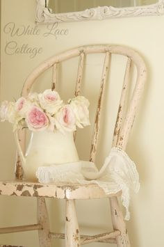 white lace cottage | French Mirror - White Lace Cottage