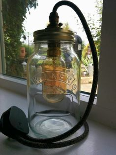 kilner jar lamp mason light rustic style by
