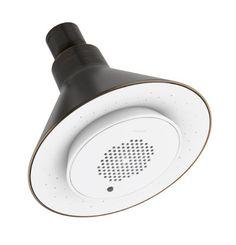 KOHLER K-9245-E-2BZ 2.0 GPM Moxie Showerhead and Wireless Speaker, Oil-Rubbed Bronze :: Kohler Speaker Shower Head