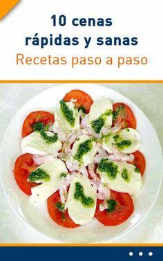 10 #recetas rápidas y #sanas. Recetas paso a paso.#recetas