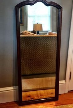 Vintage 70+ yrs old Tall Rectangular MIRROR with Wood Frame   | eBay