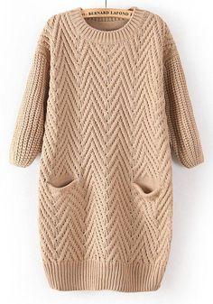 rochie tricotata bej