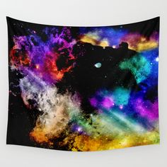 Buy Rainbow nebula by haroulita as a high quality Wall Tapestry. Worldwide shipping available at Society6.com. Just one of millions of products available.
