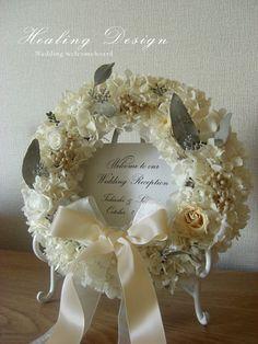 結婚式ウェディングウェルカムボードリース/ホワイトアジサイ