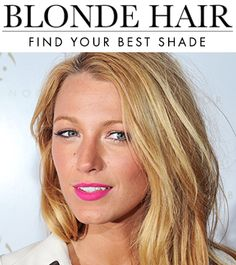 """How to Find Your Best Blonde Hair Color 