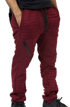 Moto Joggers in Burgundy – Fashion X Freedom