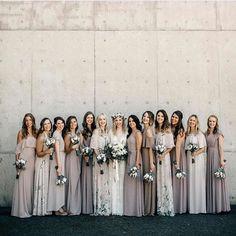 Wedding Bridesmaid Dresses Spring Summer Mix and Match Cream Taupe Tan Neutral Bridesmaid Dresses, Bridesmaids And Groomsmen, Wedding Bridesmaids, Taupe Wedding, Dream Wedding, Garden Wedding, Bridesmaid Inspiration, Wedding Inspiration, Outfit