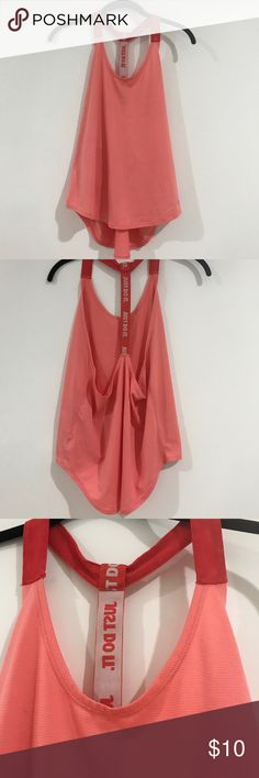 Nike pink scoop just do it open back tank Super cute and only worn once, perfect condition Nike Tops Tank Tops