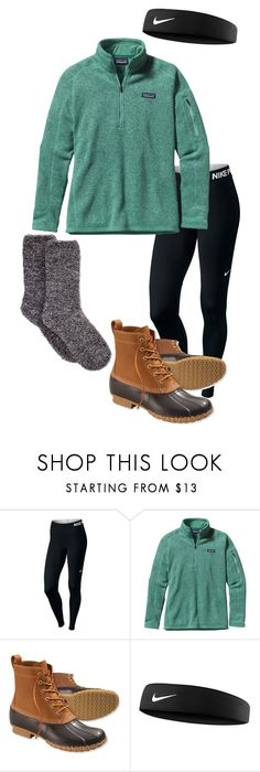 """cozy 1"" by cassieowl on Polyvore featuring NIKE, Patagonia and L.L.Bean"