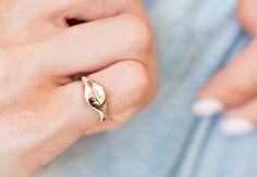 14kt gold diamond monogram pinky/midi signet ring – Luna Skye by Samantha Conn