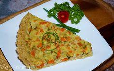 Torta de Grão de Bico com Legumes - Veganana