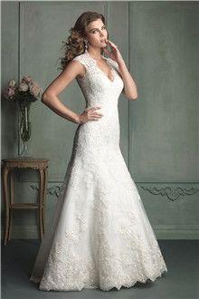 Linha-A/Princesa Gola-V Cauda Capela Organza Vestidos de Noiva