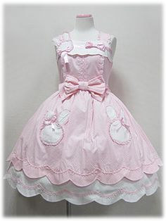 Angelic Pretty / Jumper Skirt / Bunny-chan Pocket JSK