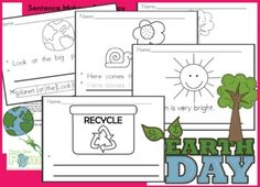 "This is an Earth Day version of our popular ""Sentence Maker"" resource. It is a collection of worksheets that will help all your students with the reading and writing process. There are four versions of each of the six worksheets - so 24 in total. Science Classroom, Teaching Science, Kindergarten Activities, Writing Activities, Classroom Ideas, Kindergarten Classroom, Preschool Ideas, Primary Science, Science Ideas"