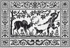 Gallery.ru / Фото #44 - Crochet Filet pour Point de Croix 1 - Mongia Filet Crochet Charts, Cross Stitch Charts, Cross Stitch Patterns, Folk Embroidery, Cross Stitch Embroidery, Embroidery Patterns, Motifs Blackwork, Thread Art, Crochet Books
