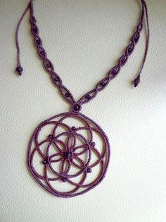 Macrame Mandala Necklace