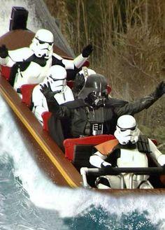 Darth Vader on Splash Mountain