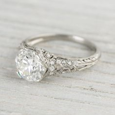 a girl can dream right... only 40K.....  Image of 2.04 Carat Vintage Tiffany & Co. Diamond Engagement Ring
