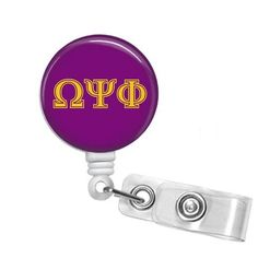 Omega Psi Phi Greek Letters Name Badge ID Holder - Designs by Dee's Hands  - 1