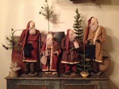 My collection of Arnett's Santas. ~Amy Duncan
