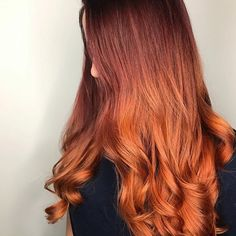 Repost from @xoannachung - Ready for this chilly weather  glazed with #kenracolor 10g, copper, and gold boosters. And @olaplex #2 with orange color creatives for an extra pop#Kenra #orangehair #copperhair #fallhair #pumpkinspicehair