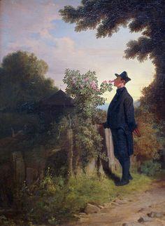 Carl Spitzweg, Der Rosenfreund