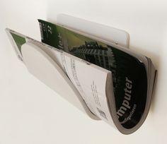 Design-Zeitungshalter, weiss YAZ.003 von tarayy®Designobjekte auf DaWanda.com