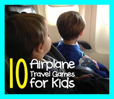 10 Airplane Travel Games for Kids (From Repeat Crafter Me)