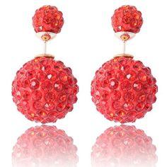 Double sided crystal earrings