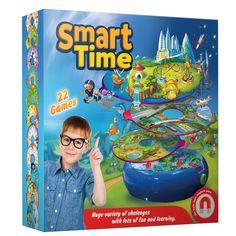 Super magnetisch spellen box met 22 leuke spellen. Dat is slim. 1 basis met 12 dubbelzijdige spelringen die je op de basis kunt leggen om steeds weer een ander spel te spelen. Verschillende soorten spellen zoals leer en denk spellen, memory spellen, race spellen en strategische spellen in 3 verschillende leeftijdscategorien. Dit spel gaat dus jaren mee, het groeit eigenlijk mee met de ontwikkeling van je kind.�  Hoe je het speelt? Kies een spel en leg deze op de magnetische basis. Draai de…