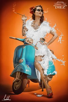 digital art - work for vespa piaggio