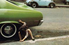 Helen Levitt, New York, 1980 (girl/green car)
