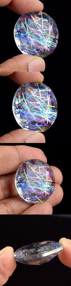 Rutilated Quartz 181099: Brazilian 40.50 Ct. Doublet Rutilated Quartz Round Cut Loose Gemstone U-7614 -> BUY IT NOW ONLY: $36.99 on eBay!