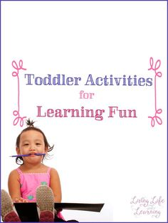 Fun and frugal toddler activities for learning fun to keep your toddlers learning without screens.