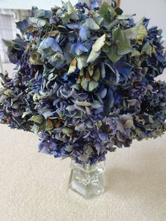Dried Hydrangeas   Blue Green Hydrangeas    Floral Arrangement   Dreid Flowers For Floral Arrangements  Natural Dried Flowers by donnahubbard on Etsy