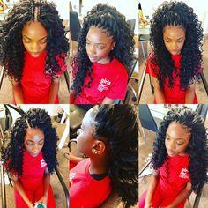 Crochet Hairstyle I want Curly Crochet Hair Styles, Crochet Braid Styles, Crochet Braids Hairstyles, Work Hairstyles, African Hairstyles, Ponytail Hairstyles, Weave Hairstyles, Curly Hair Styles, Natural Hair Styles