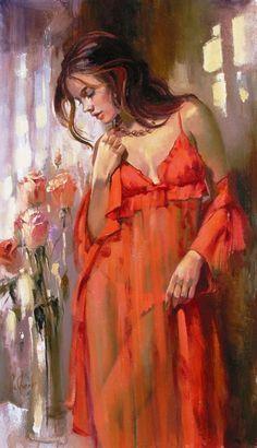 """Morning"" by Irene Sheri, new oil on canvas available from Amour d'Art Fine Art Gallery Woman Painting, Figure Painting, Painting & Drawing, Figurative Kunst, L'art Du Portrait, Fine Art, Art Design, Erotic Art, Beautiful Paintings"