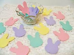 Bunny Die Cuts Cardstock Easter Bunnies 60 von BethsBannerBoutique, $6.50